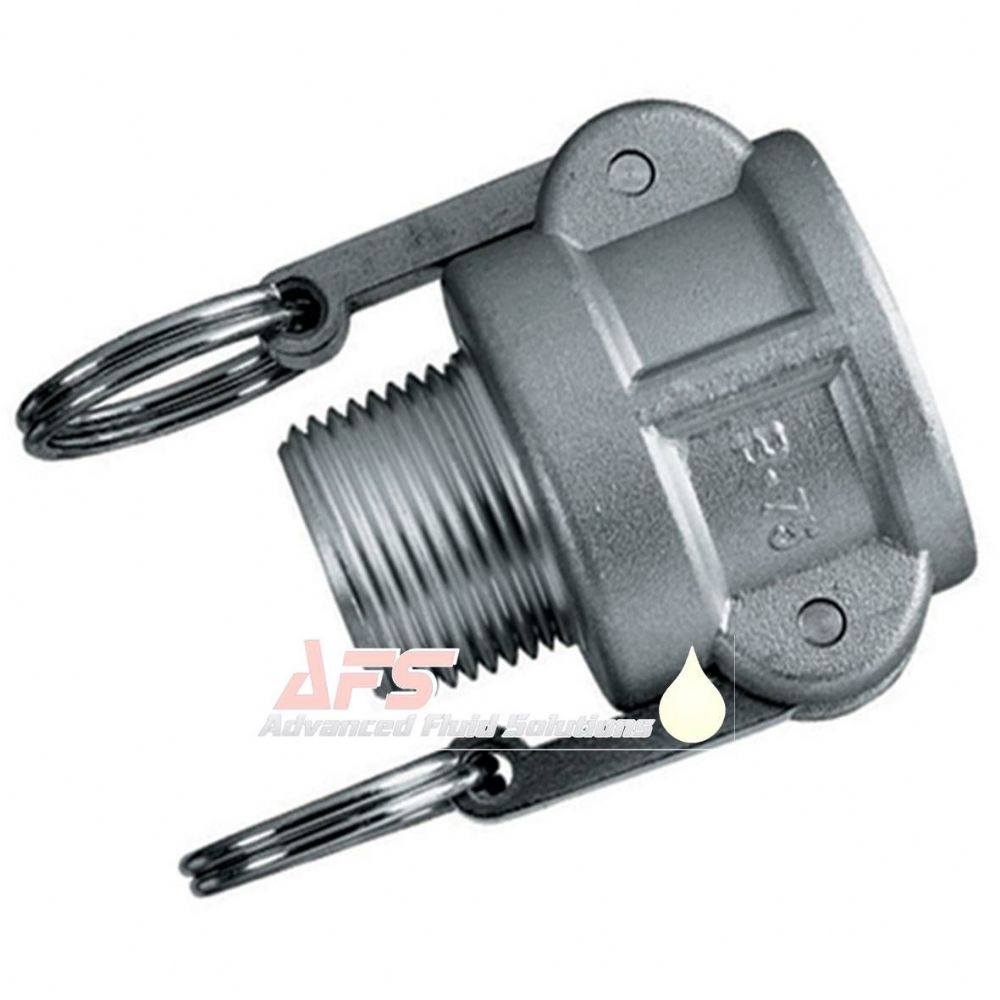 1 Inch Part B Cam & Groove Female Coupler x BSPT Male Thread Aluminium (AU) Alloy Camlock Type